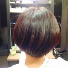マッシュルームベースのショートヘア